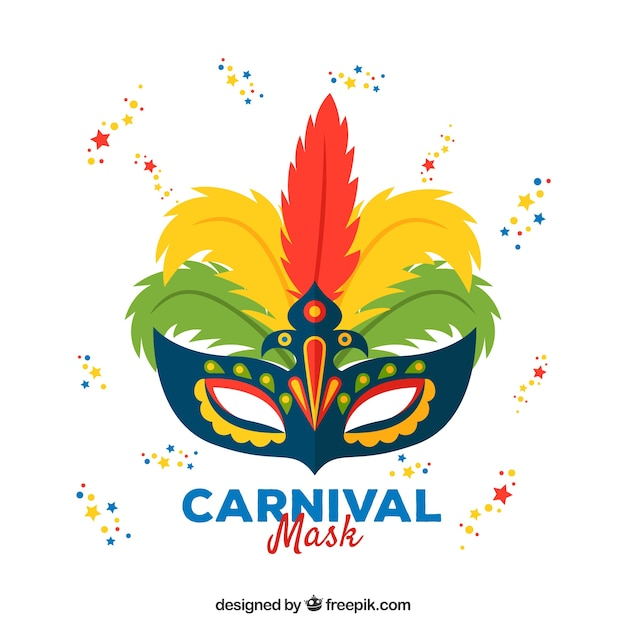 Carnaval masker ontwerp Gratis Vector