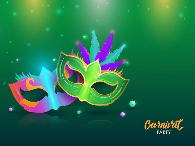 Carnaval partij achtergrond. Premium Vector