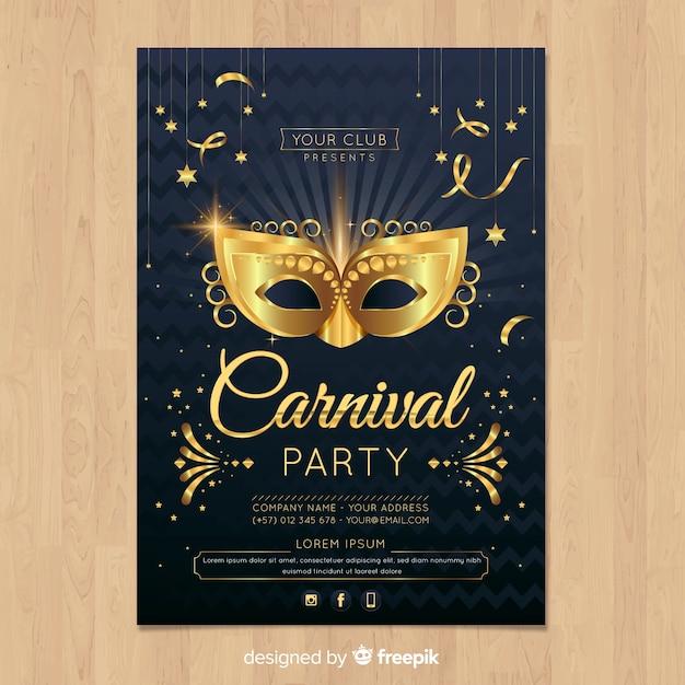 Carnaval-sjabloon voor feestvliegtuigen Gratis Vector