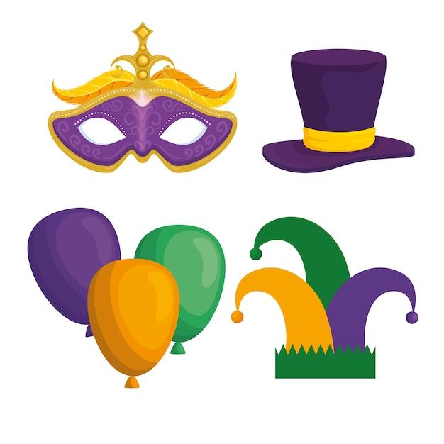 Carnaval van mardi gras Premium Vector