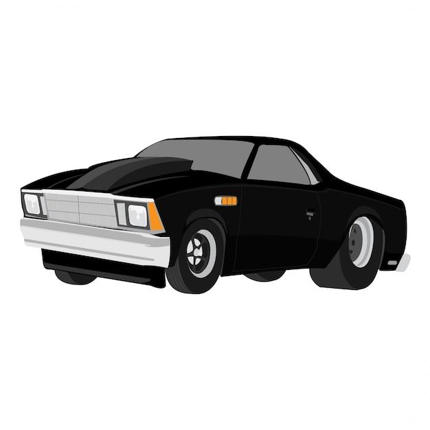 Cartoon auto vectorillustratie geïsoleerd op een witte achtergrond bewerkbare indeling Premium Vector