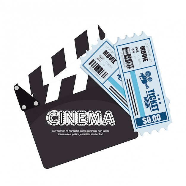 Cartoon bioscoop film festival film ontwerp Premium Vector