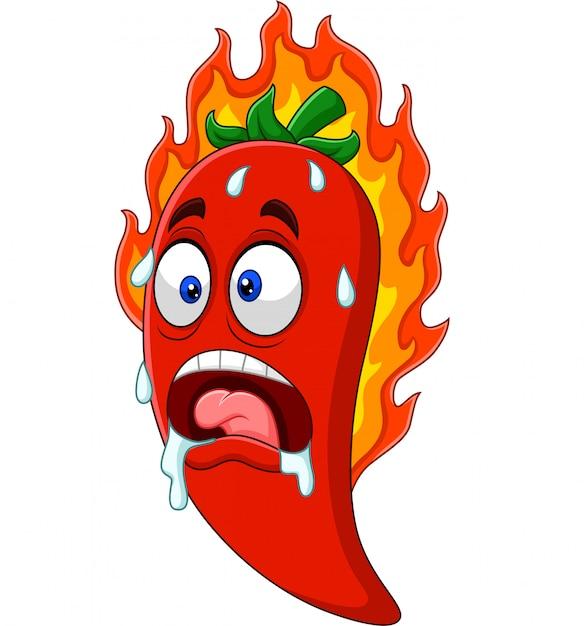 Cartoon chili peper Premium Vector