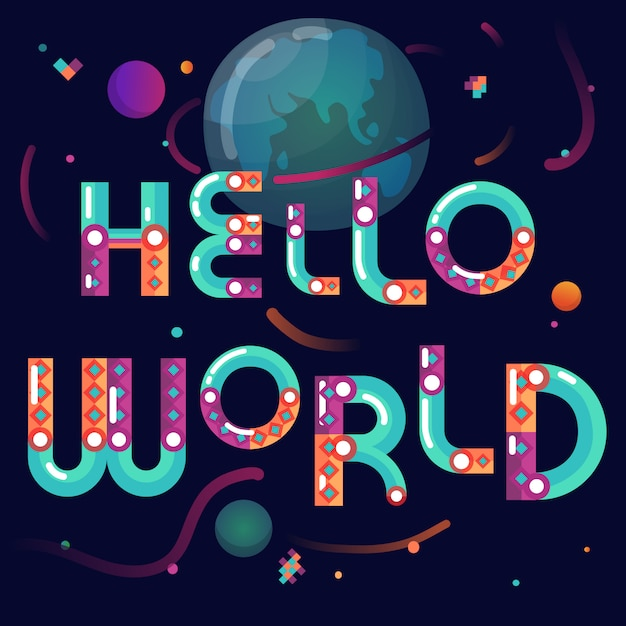 Cartoon constructor alfabet globe poster Gratis Vector