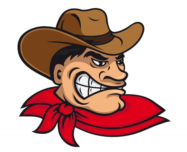 Cartoon cowboy Premium Vector