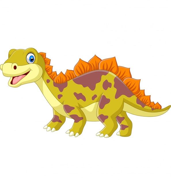 Cartoon dinosaurus op wit Premium Vector