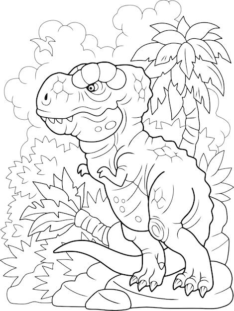 Cartoon dinosaurus tyrannosaurus Premium Vector