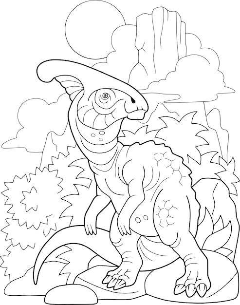 Cartoon dinosaurus Premium Vector
