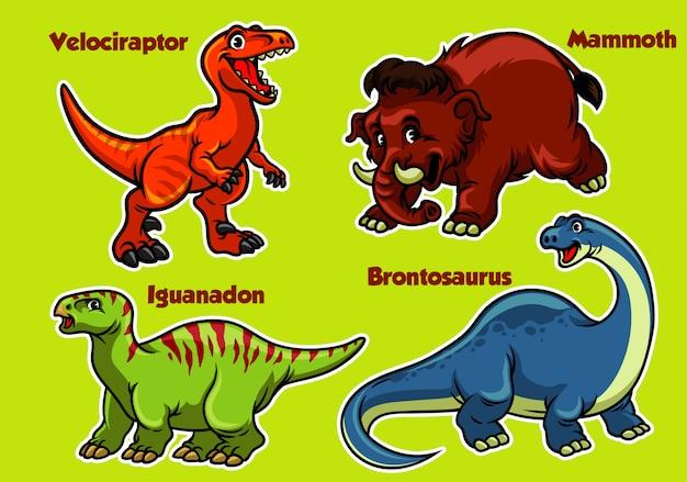 Cartoon dinosaurussen collectie Premium Vector