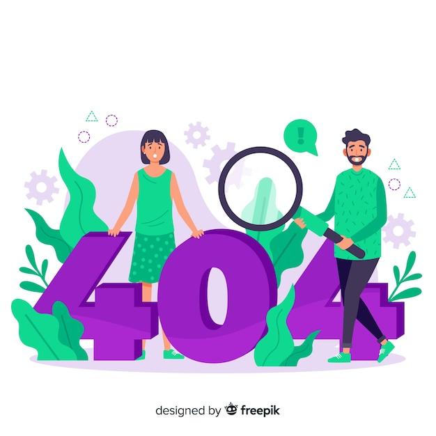 Cartoon fout 404 concept illustratie Gratis Vector
