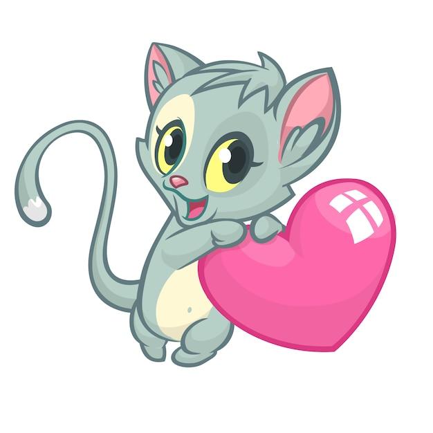 Cartoon grappige pot met een hart liefde. illustratie voor st valentijnsdag. Premium Vector