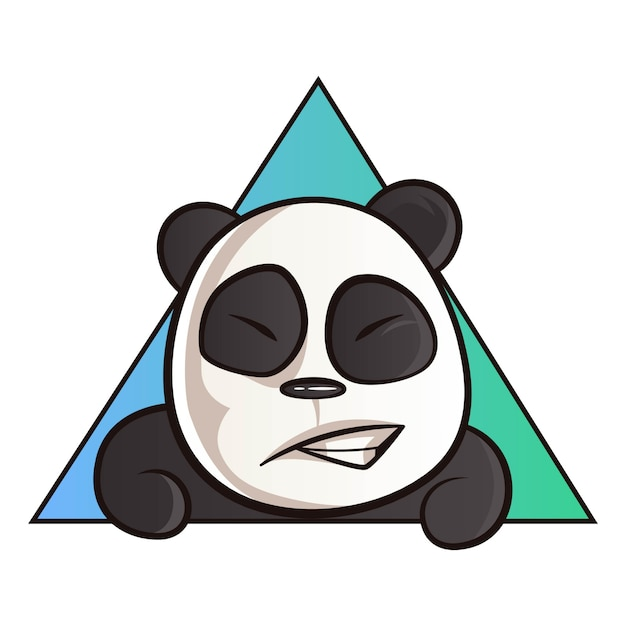 Cartoon illustratie van panda. Premium Vector