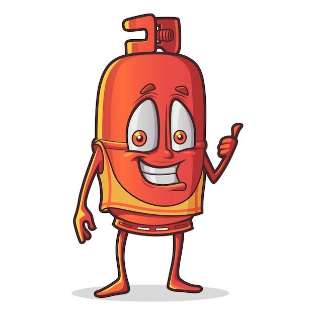 Cartoon illustratie van schattige cilinder. Premium Vector