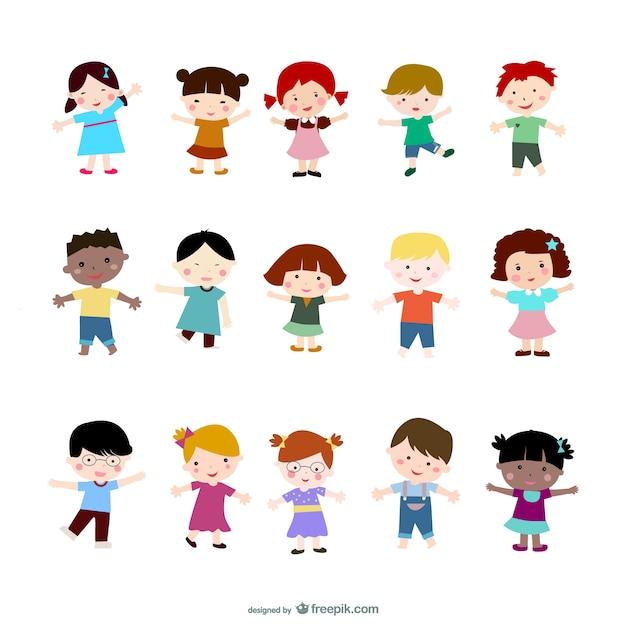 Cartoon Kinderen Vector Vector