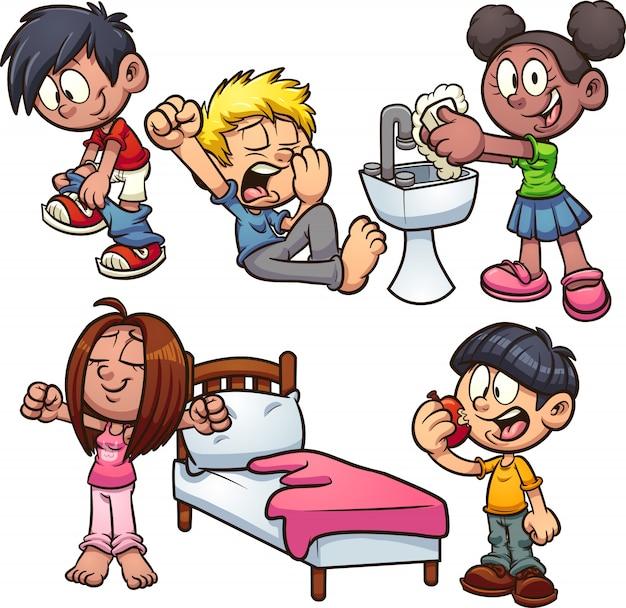 Cartoon kinderen Premium Vector