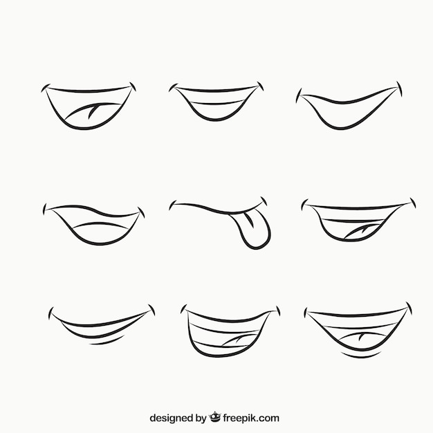 how to draw a mischievous smile