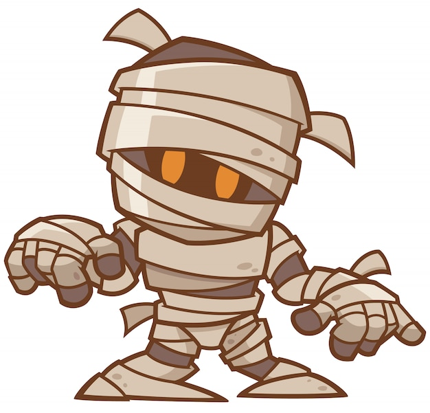 Cartoon mummie Premium Vector