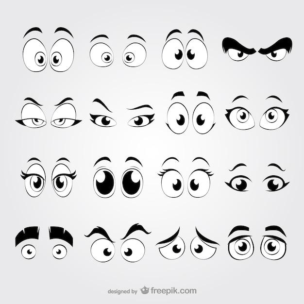 Cartoon ogen vector gratis download for Draw my own logo free