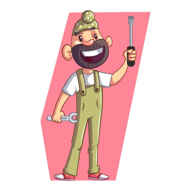 Cartoon punjabi sardar Premium Vector