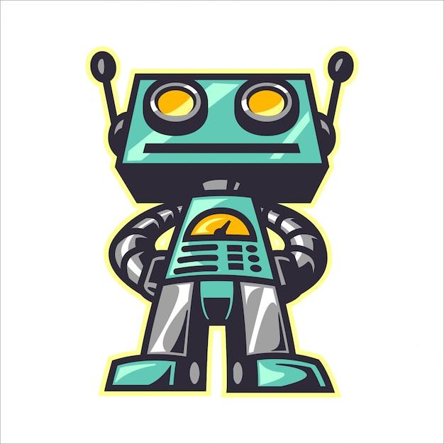 Cartoon retro robot Premium Vector