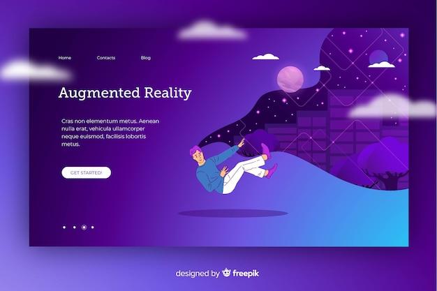 Cartoon rondgedragen in virtual reality Gratis Vector