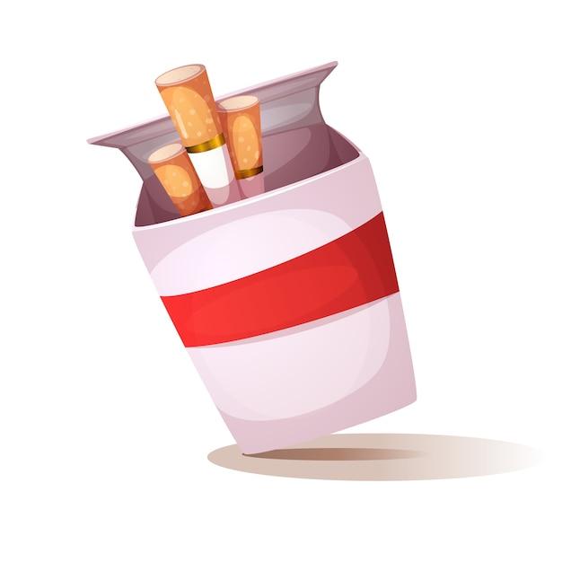 Cartoon sigaret illustratie Premium Vector