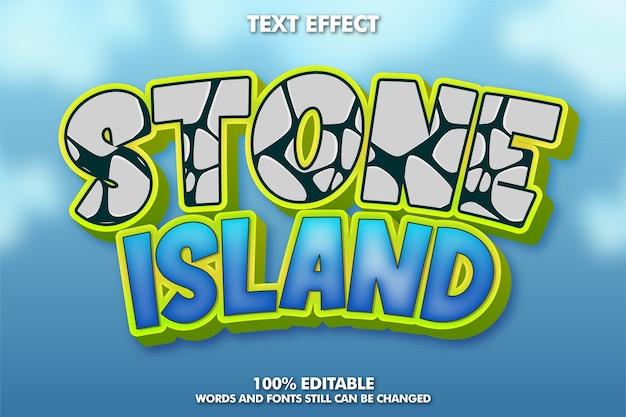 Cartoon teksteffect met stenen patroon Gratis Vector