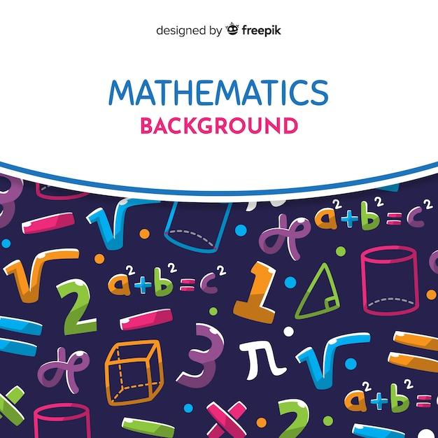 Cartoon wiskunde achtergrond Gratis Vector