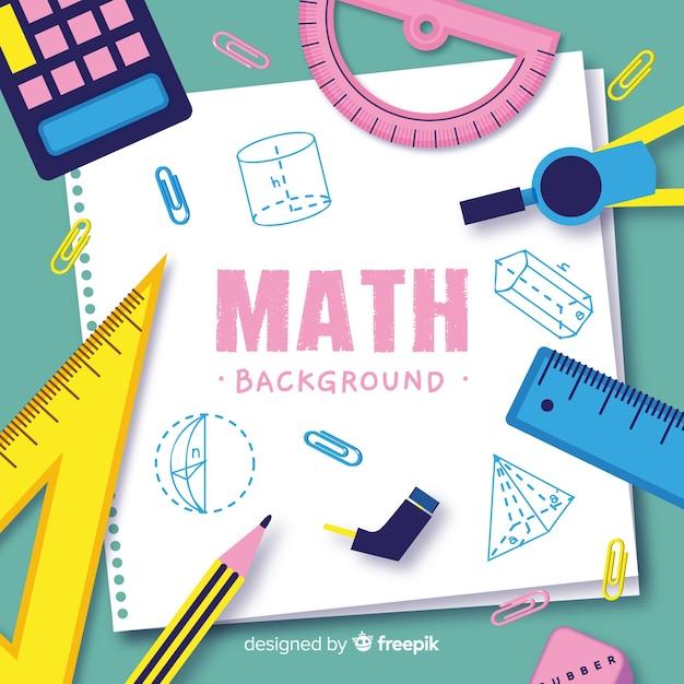 Cartoon wiskunde concept achtergrond Premium Vector