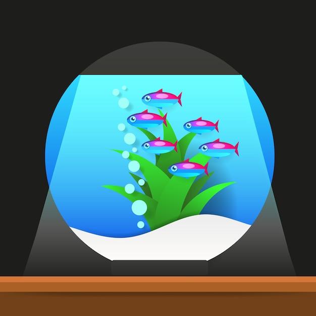 Cartoon zoetwatervissen Premium Vector