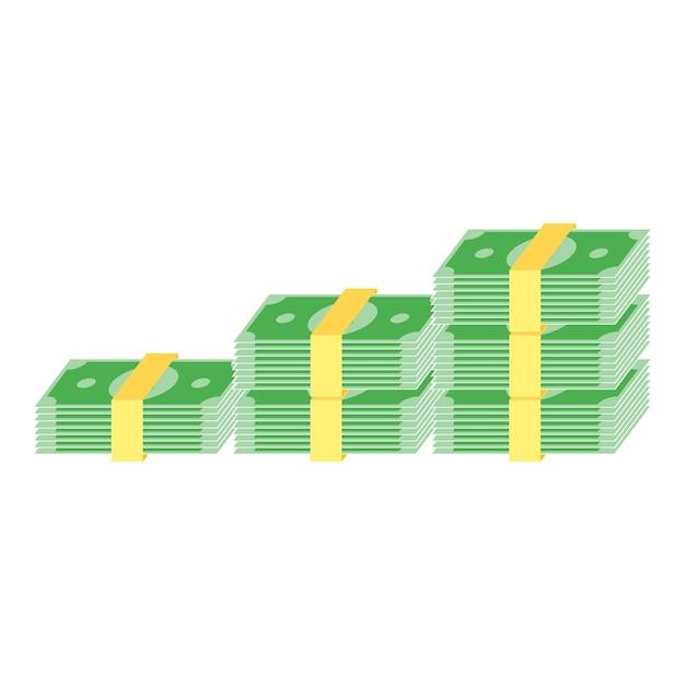 Cash geld pictogram ontwerp Premium Vector