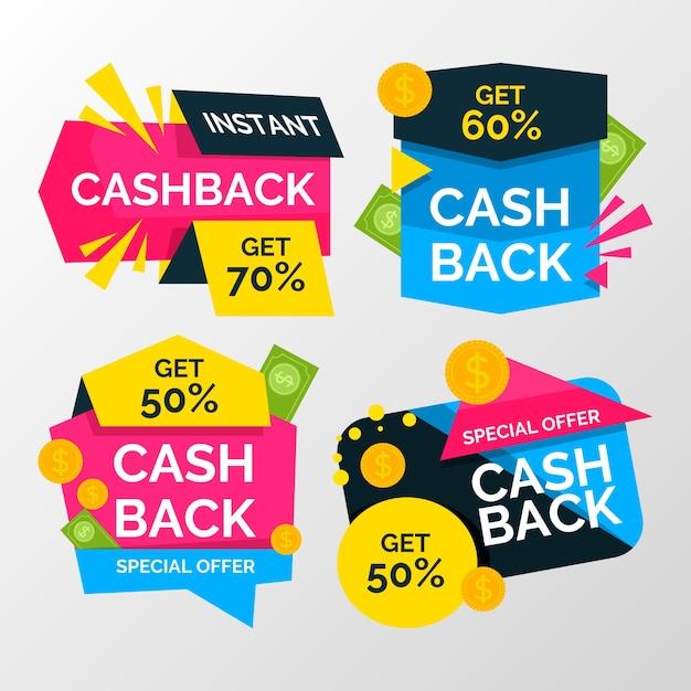 Cashback-collectie met korting Gratis Vector