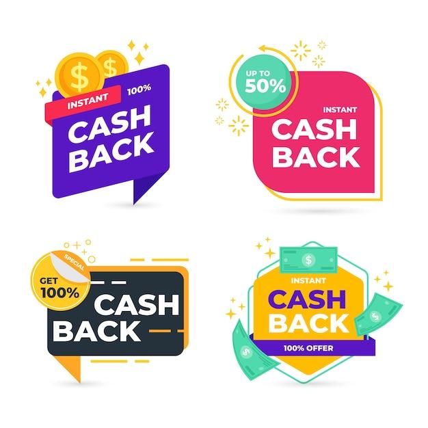 Cashback-labels Gratis Vector
