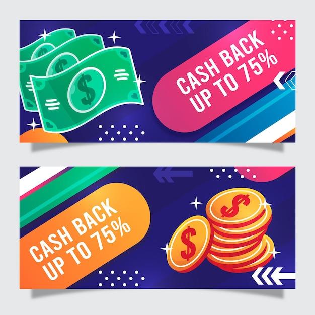 Cashback-sjabloon voor spandoek Gratis Vector