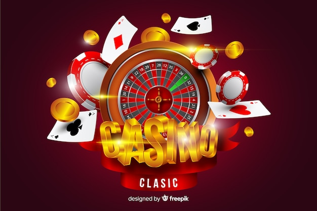 Casino achtergrond in realistische stijl Gratis Vector