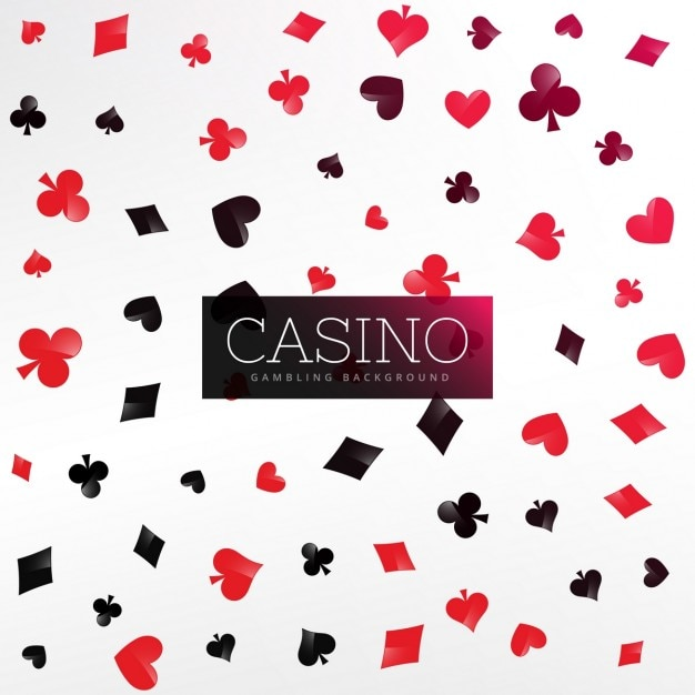 Casino achtergrond met poker card elementen Gratis Vector