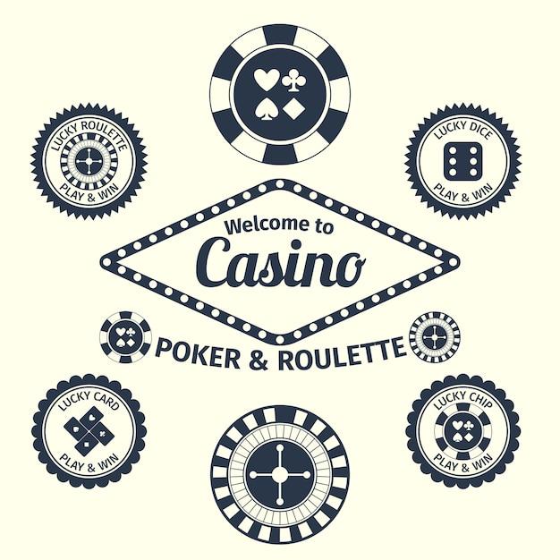Casino achtergrond ontwerp Gratis Vector