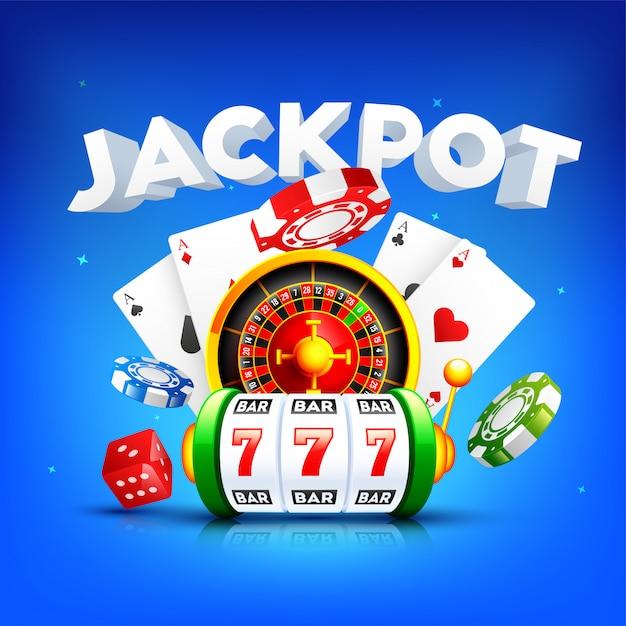 Casino achtergrond. Premium Vector