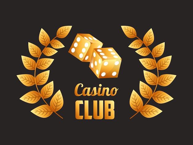 Casino club illustratie Gratis Vector