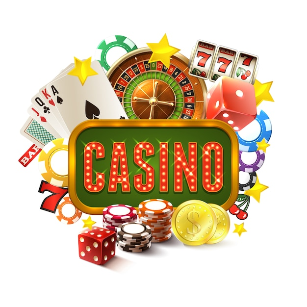 Casino frame illustratie Gratis Vector