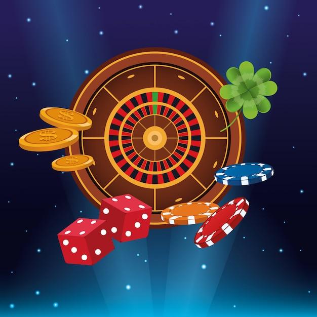 Casino game cartoons Premium Vector