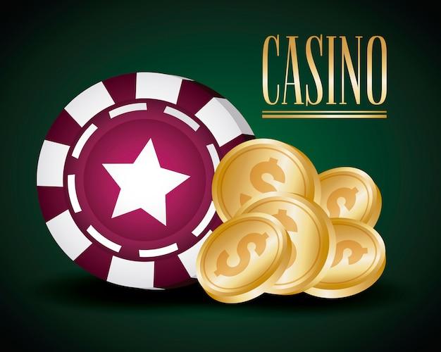 Casino gerelateerde pictogrammen Gratis Vector