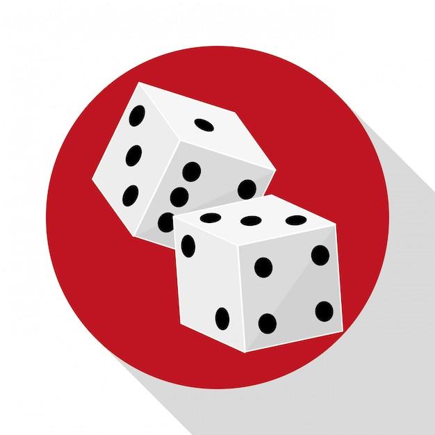 Casino iconen ontwerp Premium Vector