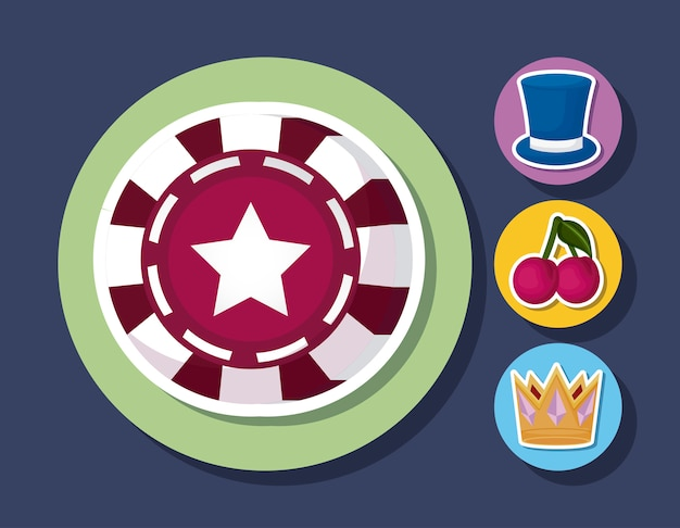 Casino-icoon Gratis Vector