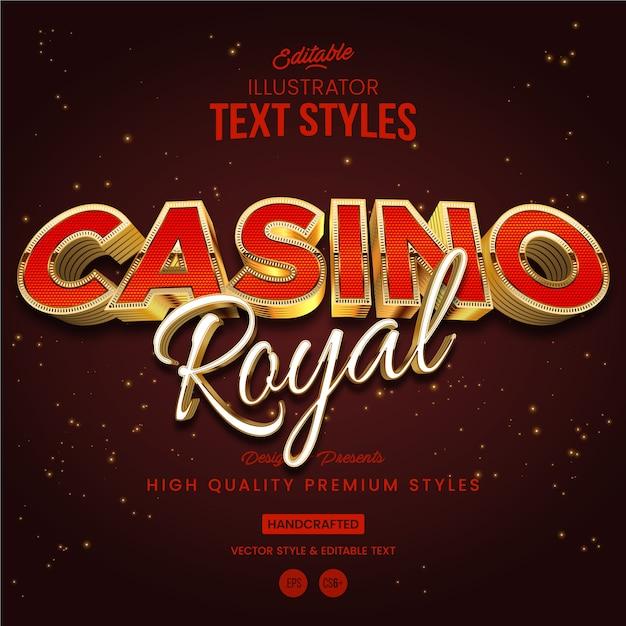 Casino koninklijke tekststijl Premium Vector