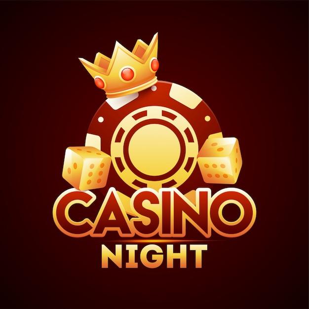 Casino nacht sjabloon. Premium Vector