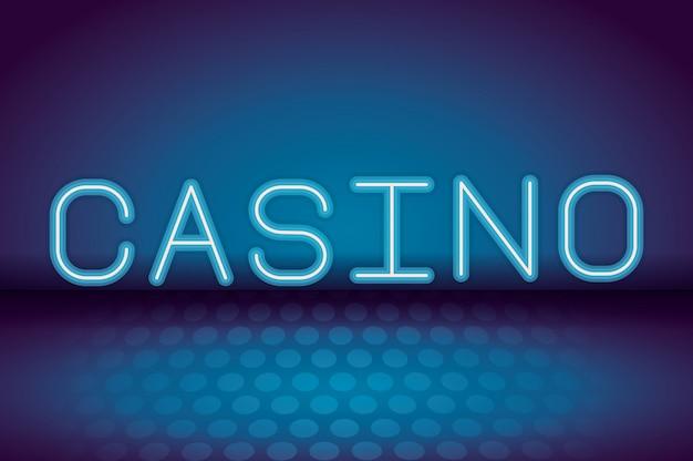Casino neonreclame Premium Vector
