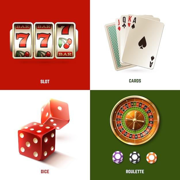 Casino ontwerpconcept Gratis Vector