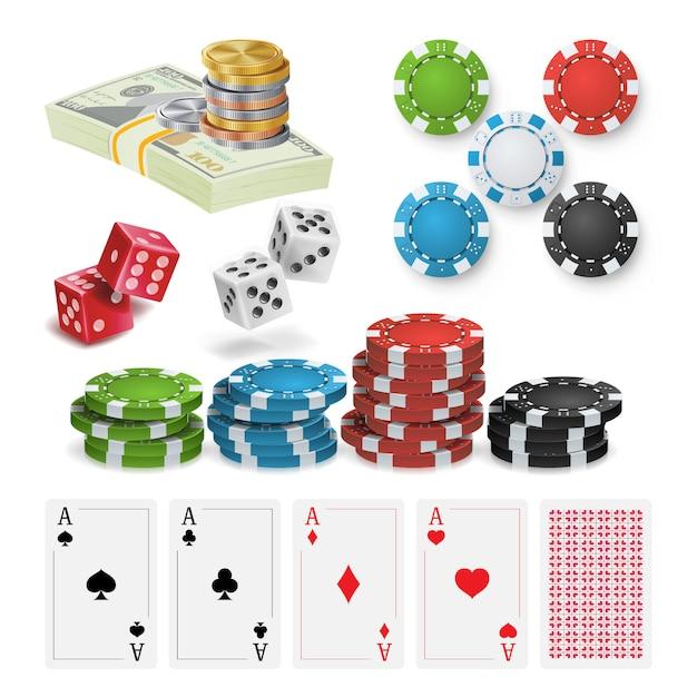 Casino-ontwerpelementen Premium Vector