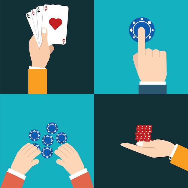 Casino pictogram met vectorillustratie Premium Vector